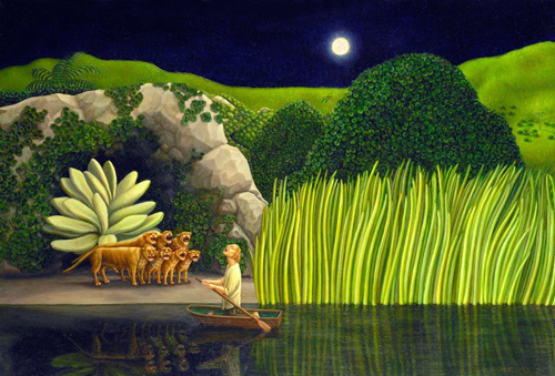 Helen Flockhart. Heracles, 2010. Oil on panel, 49 x 74cm. © Helen Flockhart.