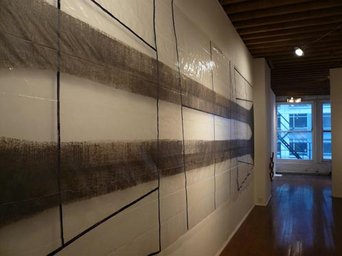 Kenneth Watson. <em>Potan</em> <em>Template </em>wall installation. The Chicago Project, Edinburgh College of Art and Metasenta Projects, RMIT University. John David Mooney Foundation, 2007
