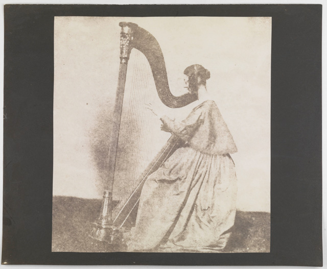 William Henry Fox Talbot. Horatia Fielding, Talbot's half sister, at her harp, 1843. © National Media Museum, Bradford / Science & Society Picture Library.
