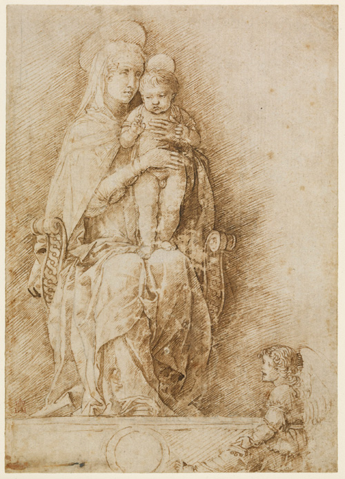 Andrea Mantegna. <em>Virgin and Child with angels</em>, c1490. Pen and ink over traces of black chalk. Copyright the Trustees of the British Museum.