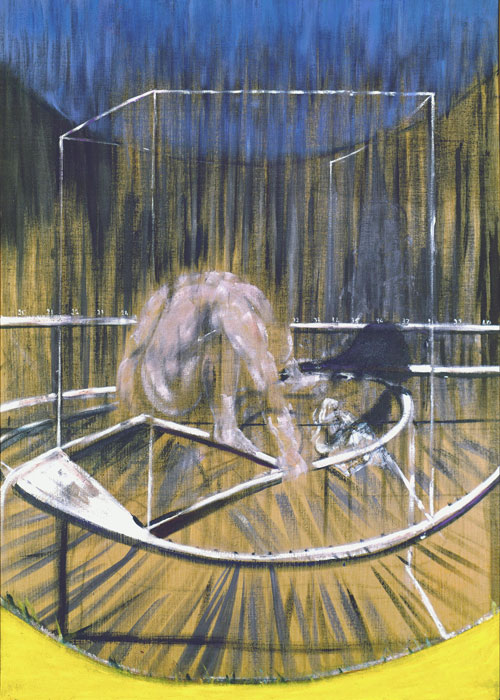 Francis Bacon. Study for crouching nude, 1952. Oil and sand on canvas, 198 x 137.2 cm. Detroit Institute of Arts, Detroit. Gift of Dr Wilhelm R Valentiner. © The Estate of Francis Bacon. DACS/Licensed by Viscopy. Photograph: Bridgeman Art Library.