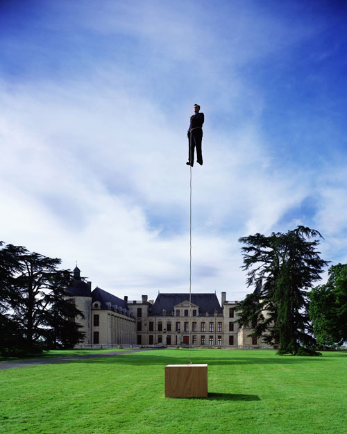 <p>Philippe Ramette. <em>Rational Levitation</em>, 2002. Colour photograph, 150 x 120 cm. Photo: Marc Domage. Courtesy: Galerie Xippas. © ADAGP, Paris & SPDA, Tokyo, 2011.