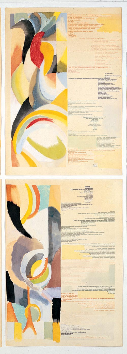 Blaise Cendrars (1887-1961). Sonia Delaunay (1885-1979). <em>La Prose du Transsib&eacute;rien et de la petite Jehanne de France (The Prose of the Transsiberian and of Little Jeannie of France). </em>Paris: Editions des Hommes Nouveaux, 1913. Biblioth&egrave;que litt&eacute;raire Jacques Doucet. Photograph &copy; Michel Nguyen.