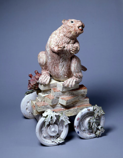 Viola Frey. <em>Non-Endangered Beaver,</em> 1973. Ceramic with glazes. Courtesy Artists
