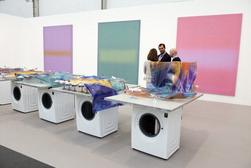 Winner of the 2015 Stand Prize, Stuart Shave/Modern Art, Frieze London 2015. Photograph: Linda Nylind. Courtesy of Linda Nylind/Frieze.