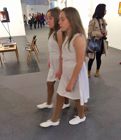 Tunga. Siamese Hair Twins. Frieze London 2015. Photograph: Celia White.