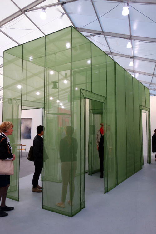 Do Ho Suh. Wielandstr. 18 12159 Berlin, 2011. Polyester fabric, 138.58 x 82.68 x 258.27 in. Edition of 3.