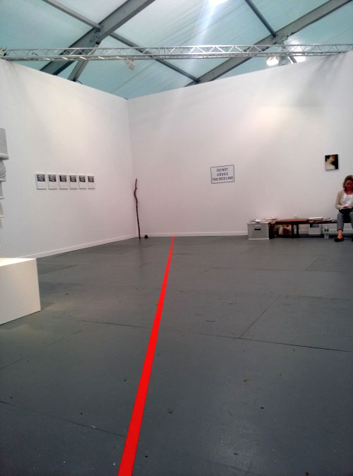 Kris Martin. Do Not Cross The Red Line, 2012. Sies + Höke, Dusseldorf, Germany