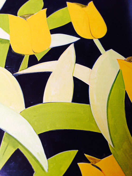 Alex Katz. Tulips 4 (detail).