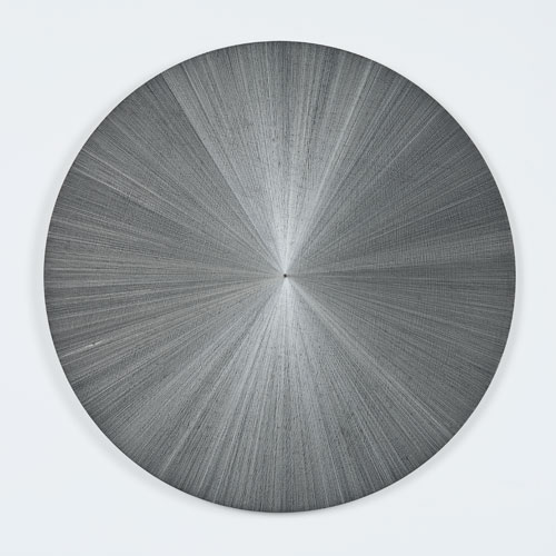 Michelle Grabner. Untitled, 2014. Silverpoint and gesso on panel 36 x 36 x 1 1/4 in.
