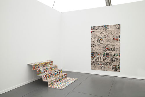 Nikolas Gambaroff. Installation view. Frieze New York, 2014.