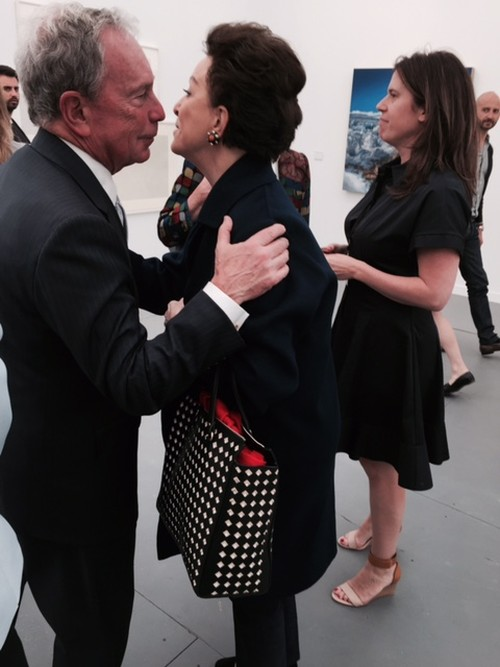 Michael Bloomberg and Mercedes Bass. Photograph: Jill Spalding.