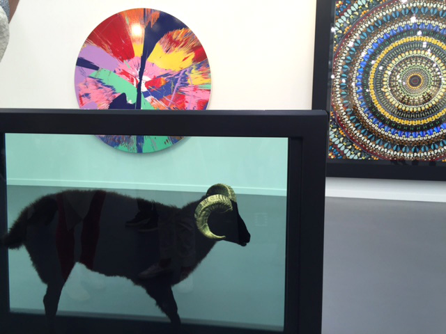 Damien Hirst's Pickled Sheep at Gagosian. Photograph: Jill Spalding.