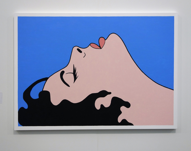 John Wesley, Untitled, 2011. Acrylic on canvas. 44 x 66 in. Fredericks & Freiser Gallery. Photograph: Miguel Benavides.
