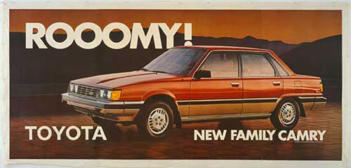 Jeff Koons, <i>New Rooomy Toyota Family Camry</i>, 1983. Lithosgraph 