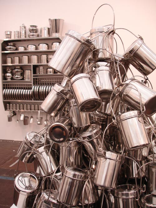 Subodh Gupta. Installation view.