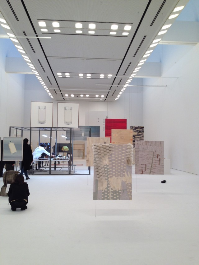 Simon Fujiwara. White Day exhibition view (arranged like a computer monitor). Tokyo Opera City Art Gallery.