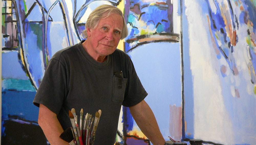 Now in his 80s, Gough continues to paint his vast abstract canvases. He talks about his long career and, in particular, the influence John Walker had on him