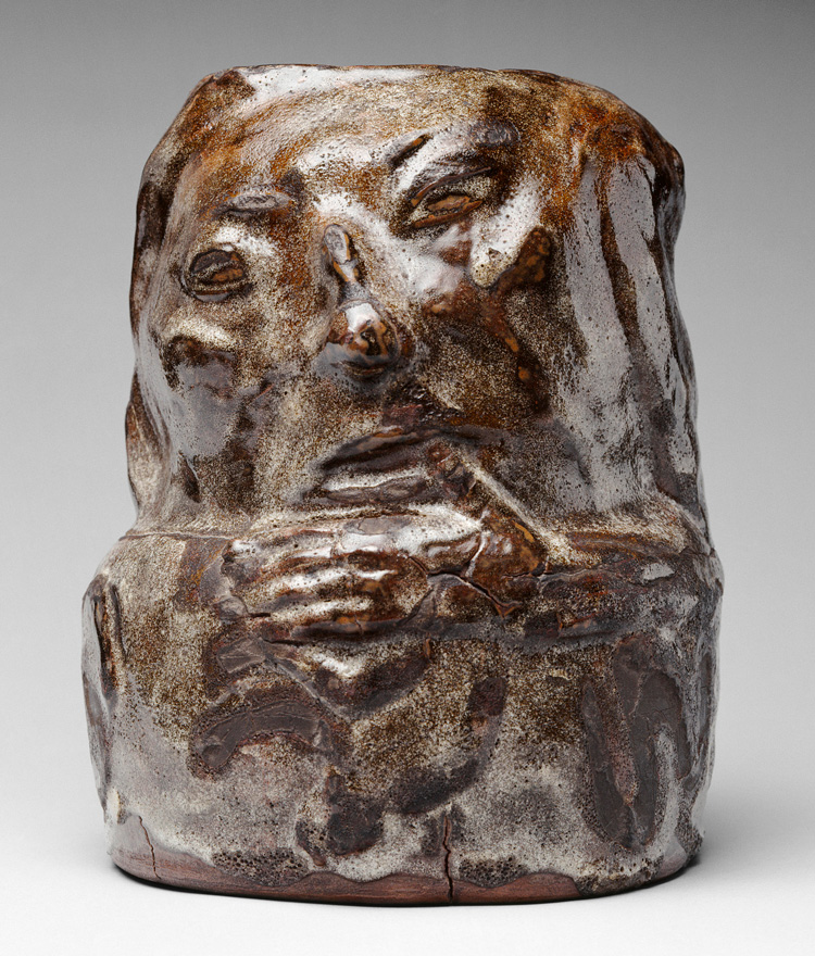 Paul Gauguin, Anthropomorphic Pot, 1889. Enamelled sandstone, 28.4 × 21.5 cm. Musée d'Orsay, Paris. © RMN-Grand Palais (musée d'Orsay). Photo: Hervé Lewandowski.