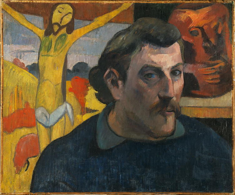 Paul Gauguin, Self Portrait with Yellow Christ, 1890-1891. Oil on canvas, 38.1 x 45.7 cm. Musée d'Orsay, Paris. © RMN-Grand Palais (musée d'Orsay). Photo: René-Gabriel Ojéda