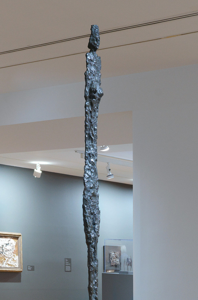 Man Walking (Version I), 1960, Alberto Giacometti: A Line Through Time, installation view, Vancouver Art Gallery 2019. Photo: Maegan Hill-Carroll, Vancouver Art Gallery.