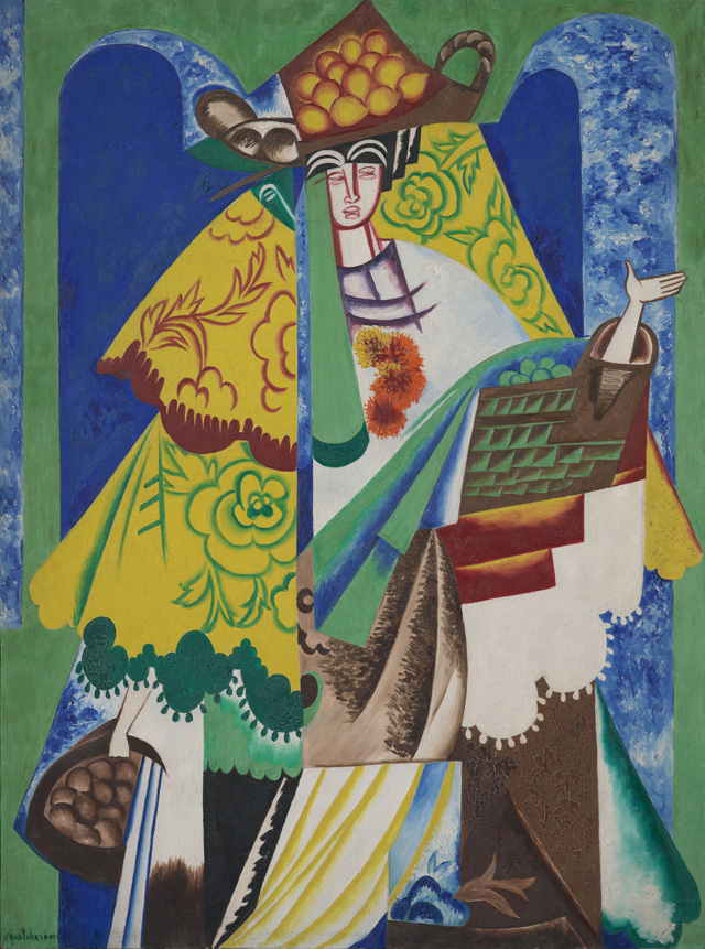 Natalia Goncharova. Orange Seller, 1916. Oil paint on canvas, 131 x 97 cm. Museum Ludwig. © ADAGP, Paris and DACS, London 2019.