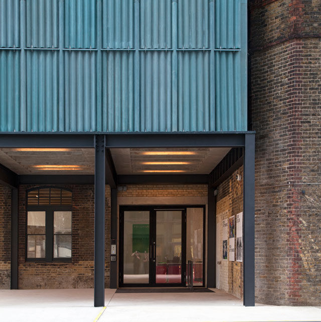 Goldsmiths Centre For Contemporary Art, entrance view. Image courtesy of Assemble.