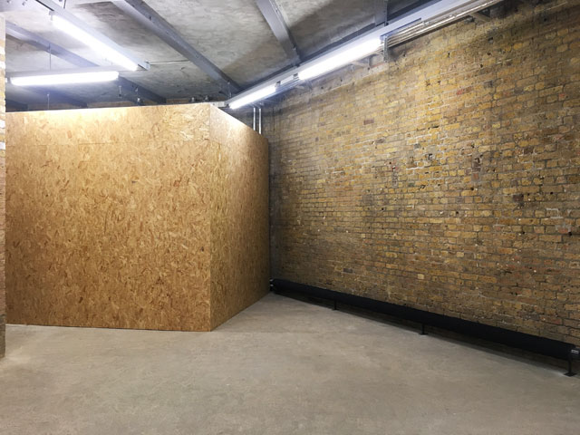 Basement: new space inserted into old, Goldsmiths Centre For Contemporary Art. Photo: Veronica Simpson.