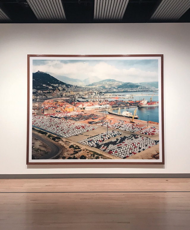Andreas Gursky at Hayward Gallery 25 January – 22 April 2018. Installation view, Salerno I, 1990. Photograph: Martin Kennedy.