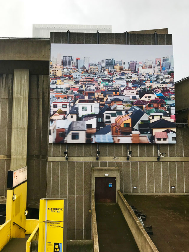 Andreas Gursky at Hayward Gallery 25 January – 22 April 2018. Exterior view. Photograph: Martin Kennedy.