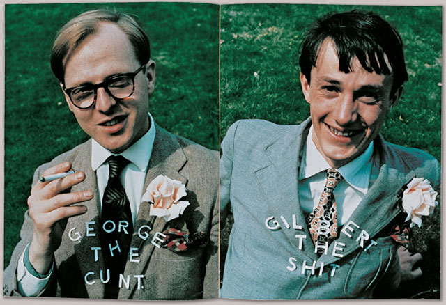 George the Cunt and Gilbert the Shit, Magazine Sculpture, 1969. © Gilbert & George.