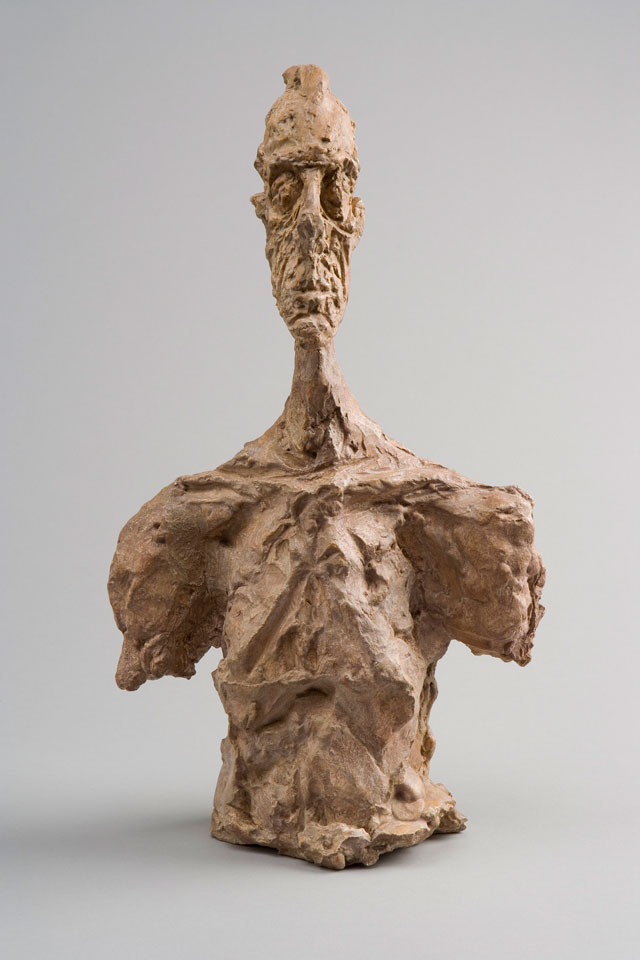 Alberto Giacometti. Bust of Diego, c1956. Plaster, 37.3 x 21.5 x 13 cm. Collection Fondation Alberto and Annette Giacometti, Paris. © Alberto Giacometti Estate, ACS/DACS, 2017.