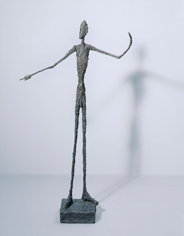 Alberto Giacometti. Man Pointing, 1947. Bronze, 178 x 95 x 52 cm. Tate, Purchased 1949. © Alberto Giacometti Estate, ACS/DACS, 2017.