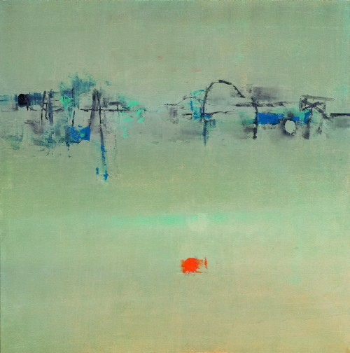 Vasudeo Santu Gaitonde. Painting No 1, 1962. Oil on canvas, 50 x 50 in (127 x 127 cm). Private collection, New York. Photograph: Sotheby's, courtesy Sotheby's, New York.