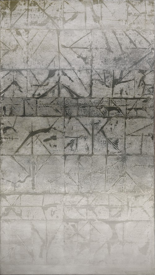 Vasudeo Santu Gaitonde. Untitled, 1973. Oil on canvas. 70 1/8 x 39 3/4 in (178 x 101 cm). National Gallery of Modern Art, New Delhi. © Solomon R. Guggenheim Foundation, New York. Photograph: Anil Rane.