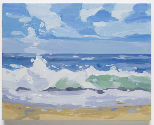 Maureen Gallace. Beach Wave October, 2016. Oil on panel, 27.9 x 35.6 cm (11 x 14 in). © Maureen Gallace, courtesy Maureen Paley, London.