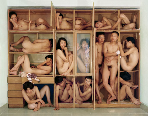 Gao Zhen and Gao Qiang (The Gao Brothers). Sense of Space, 2000. Photograph, 99.1 x 80 cm. Image courtesy of Hua Gallery, London.