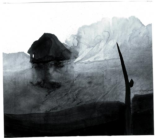 Gao Xingjian. <em>Oblivion</em>, 86 x 96 cm, 1997. Private collection.