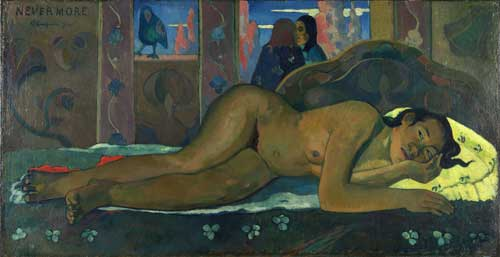 Paul Gauguin. <em>Nevermore O Tahiti</em>, 1897. Oil on canvas, 60 x 116 cm. Courtauld Gallery, London.