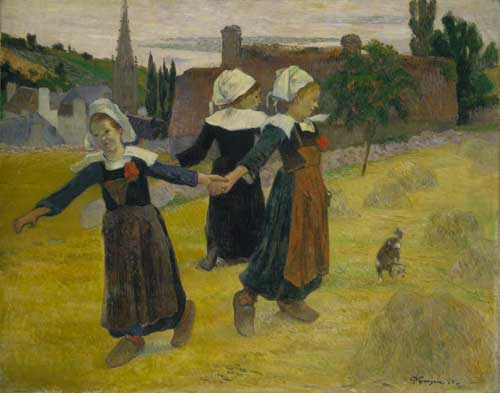 Paul Gauguin, <em>Breton Girls Dancing, Pont-Aven</em></a>, 1888 © National Gallery of Art, Washington D.C.