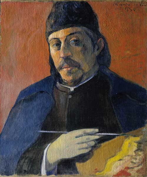 Paul Gauguin (1848-1903), <em>Self-Portrait with Palette, </em>c1894. Oil on canvas. © Private Collection