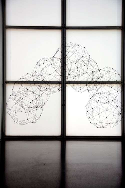 Gego. Siete icosidodecaedros (Seven icosidodecahedrons). c1977. Steel wire. © Fundación Gego. Photograph: Jerry Hardman-Jones.