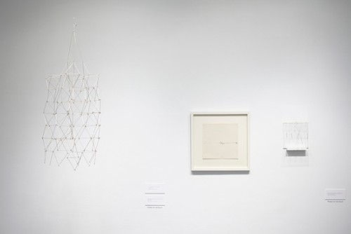 Installation view (3), Gego and Gerd Leufert: a dialogue. Photograph: Peter Butler.