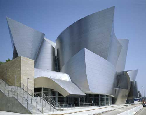 Walt Disney Concert Hall. Designed by Frank Gehry. Courtesy of the Los 