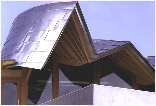 Maggie's Centre, Dundee, roof detail.