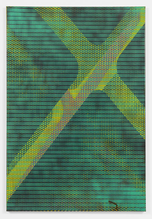 Isa Genzken. MLR, 1992. Alkyd resin spray paint on canvas, 122 x 82 cm. Lonti Ebers, New York. Courtesy the artist and Galerie Buchholz, Cologne/Berlin. © Isa Genzken.