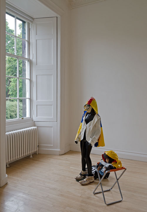 Isa Genzken. Installation view (2), Botanical Garden Inverleith House, Royal Botanic Garden, Edinburgh.  © Isa Genzken. Courtesy of Hauser & Wirth and Galerie Buchholz Cologne/Berlin. Photograph: Michael Wolchover.