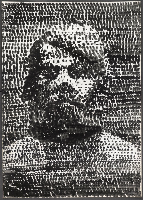 A.R. Penck. Untitled (Self-portrait), 1975. Grey and black ink wash on paper. Presented to the British Museum by Count Christian Duerckheim. © A.R. Penck/DACS 2013.