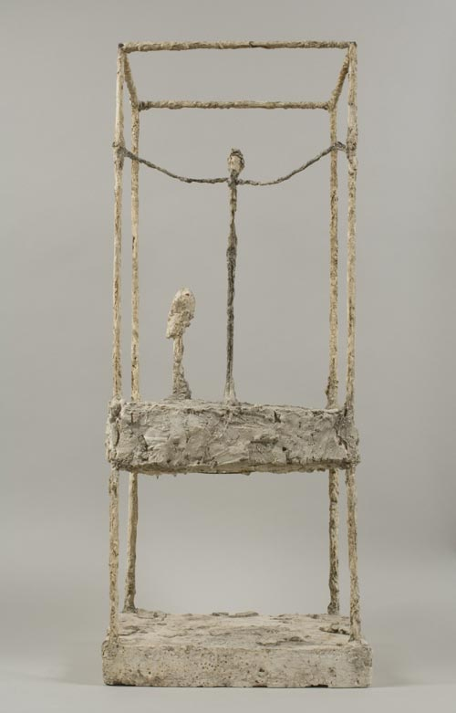 Alberto Giacometti. <em>The Cage (first version)</em>, 1949–1950. Painted plaster, 91.1 x 38.5 x 34.9 cm. Fondation Alberto et Annette Giacometti, Paris © Adagp