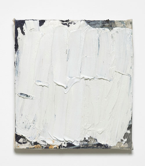 Lydia Gifford. Reverse, 2015. Wood, canvas, oil paint, 34 x 32 x 3 cm. Courtesy Laura Bartlett Gallery, London.